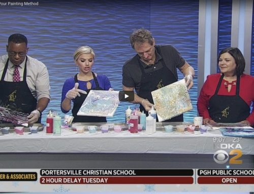 CBS Pittsburgh:  Paint Monkey Explains Pour Painting Method